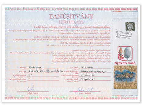 Giclée printing - Certificate for Limited Edition